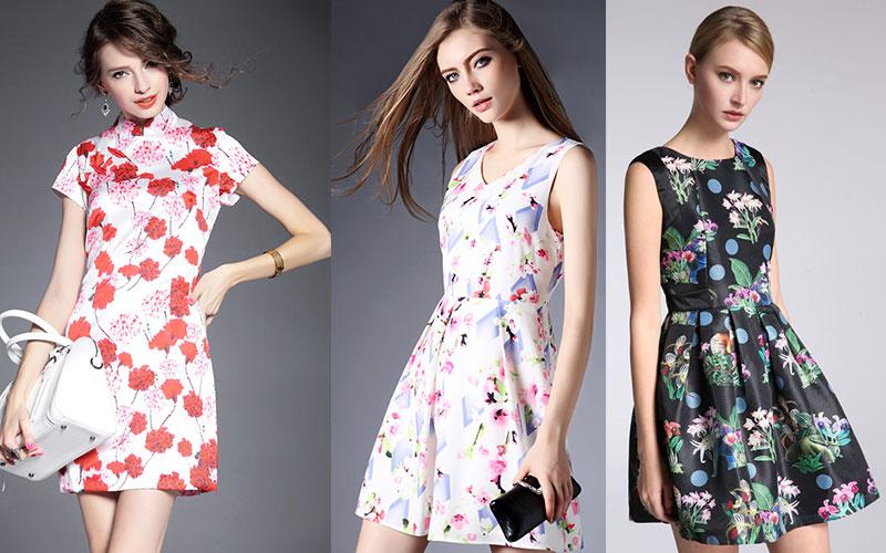 印花裙怎么穿?明星们是怎样把印花裙穿成减龄又少女的