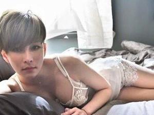 温岚穿透视内衣拍摄MV