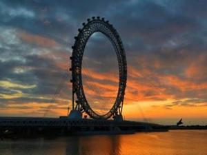 最大无轴摩天轮投用 恢弘壮观有渤海之眼的称号