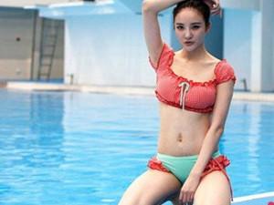 刘雨欣大尺度跳水写真 身材凹凸有致非常有料事业线迷人