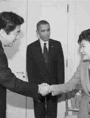 """奥巴马""""撮合""""朴槿惠与安倍握手"""