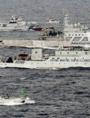 中国海警船向钓岛海域投放物体 日高官撂狠话