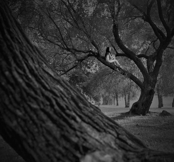 欧美黑白人与大自然人体艺术摄影图片