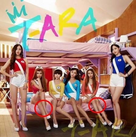 韩女团T-ara修图失败遭抓包