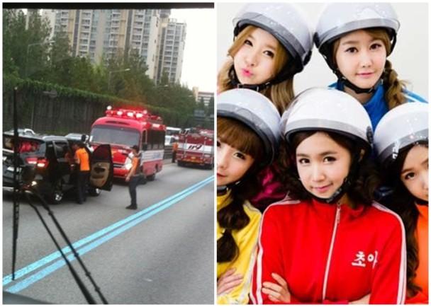 韩女团Crayon Pop发生交通事故