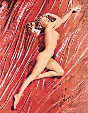 玛丽莲梦露裸照在美国拍卖 估值600万美元