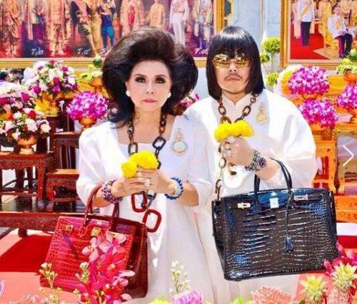 泰国母子爱马仕包包配几十斤黄金
