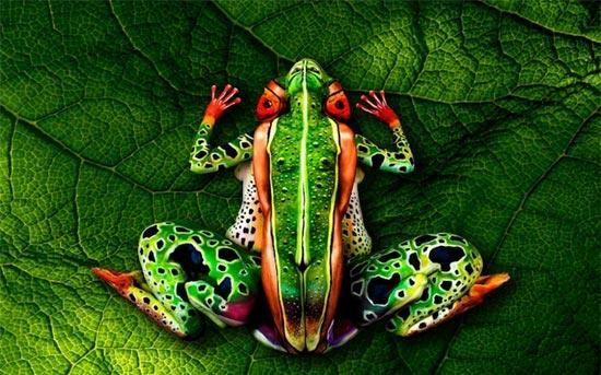 逼真的动物人体彩绘艺术