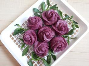 紫薯玫瑰花馒头的做法