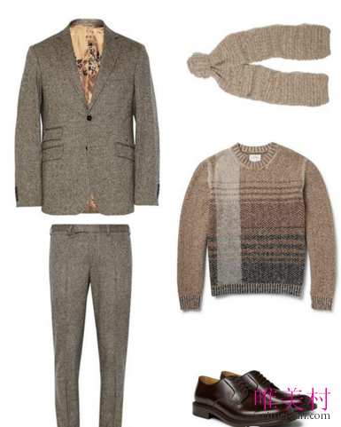 三款男士羊绒上衣搭配推荐 温暖整个冬天