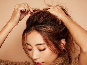 韩式无刘海的发型扎法