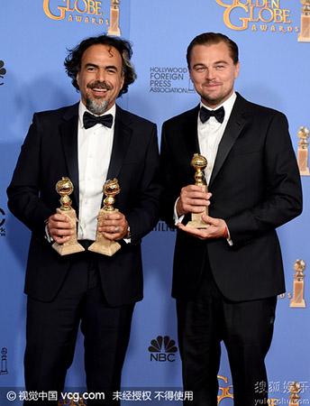 《荒野猎人》成73届金球奖大赢家
