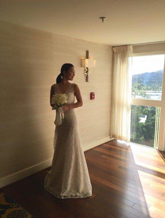 韩女星李真夏威夷出嫁 婚礼浪漫如童话