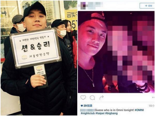 BIGBANG胜利再赴台夜店狂欢 曝3位女星作陪