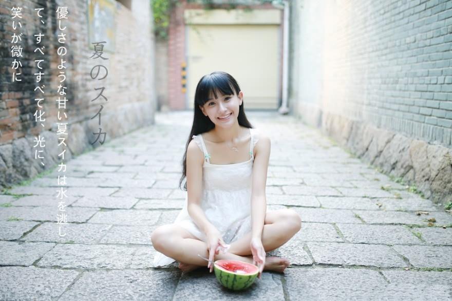 小清新水果女生甜美写真