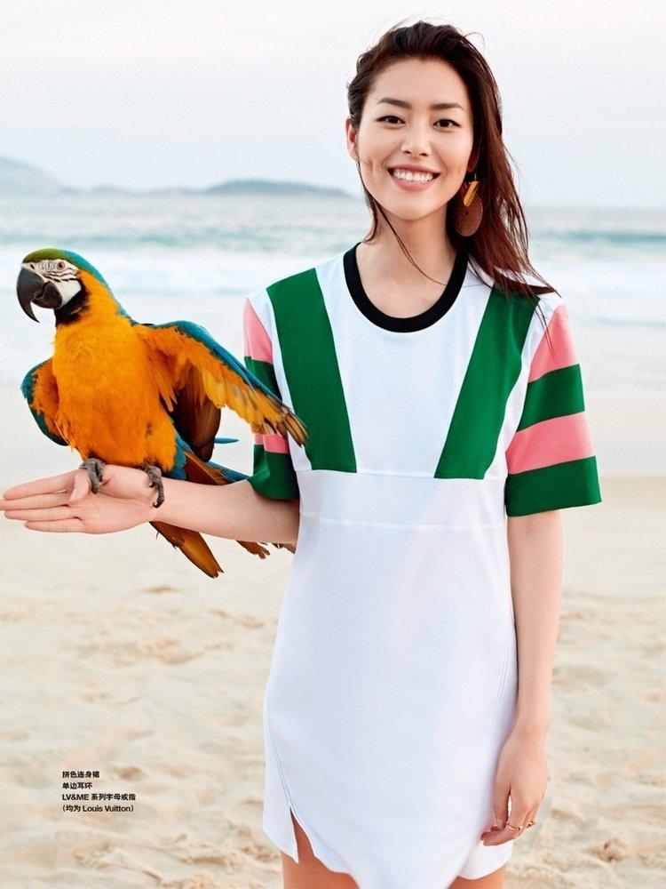 <b>刘雯最新封面大片 标志笑容清新甜美</b>