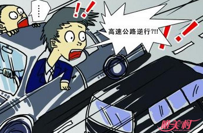 女司机高速逆行