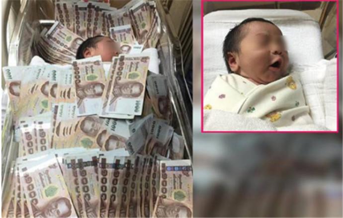 婴儿盖着40万现金睡觉 有钱连命都不想要了