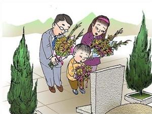 孙女扫墓沉迷手机,因为这件事三代人伤了和气