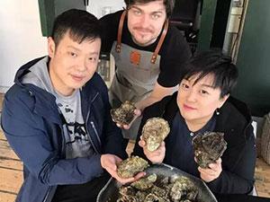 华人去挖丹麦生蚝 再远的距离也阻挡不了吃