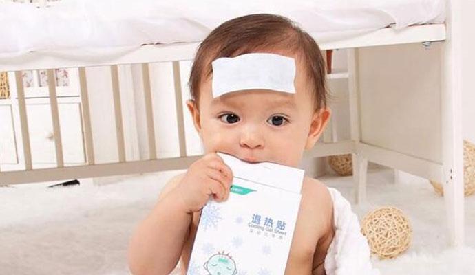 女婴用退烧贴过敏