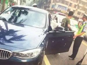 粤B宝马飙车冲卡 车身惊现子弹痕被疑黑帮真相却大跌眼镜