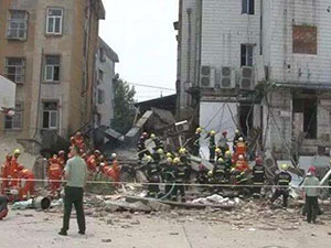 淮安饭店煤气爆炸致3人死亡 房屋倒塌现场一