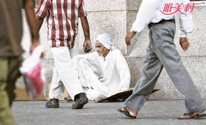 沙特乞丐们躺着赚钱