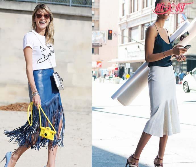 包臀裙搭配图片