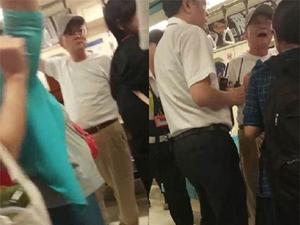 七旬大爷骂停地铁 老人地铁怒骂小孩殃及乘