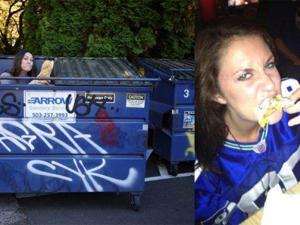 女子在垃圾桶寻食 省吃喝省下20万人民币令