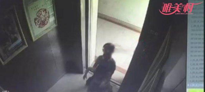 女童被关电梯