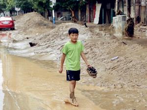绥德县暴雨引发大洪水 双胞胎被洪水冲走