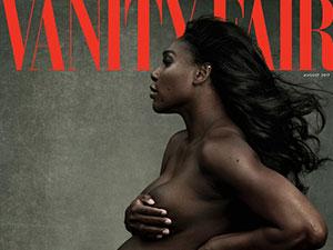 小威晒孕肚身材很丰满 全裸出镜杂志封面十