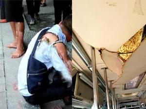 福州一公交车燃爆 现场曝光触目惊心烧伤人员被送院