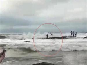 游客不听劝阻遇难 不懂大海涨潮的可怕