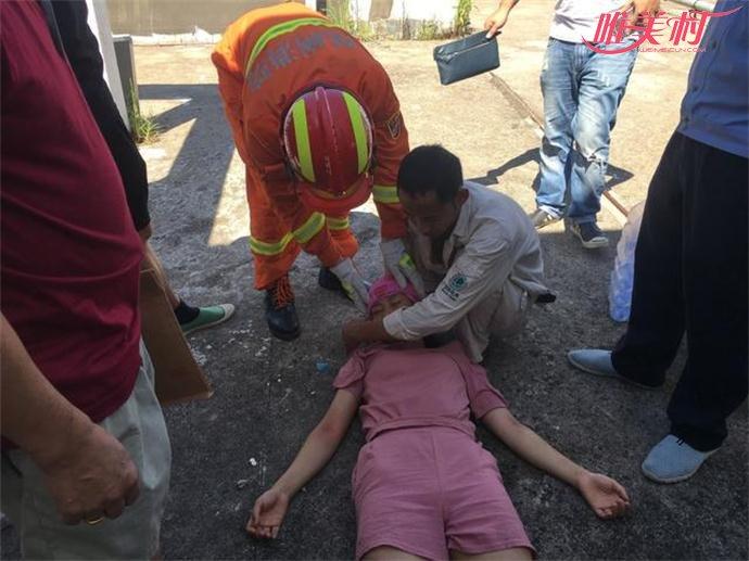 疑因感情问题跳楼自杀的少女成功获救
