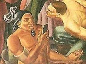 80年前壁画现手机 背后的神秘故事预言让人惊奇