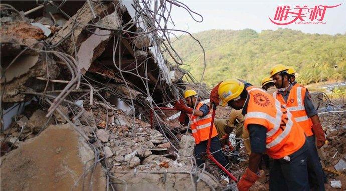 印度大楼倒塌多人被埋