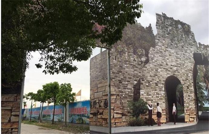 巨幅城门图细节逼真