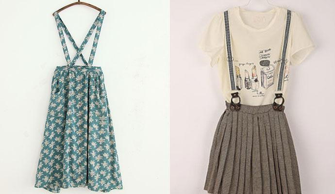 背带裙的多样穿搭法