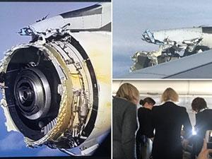 客机引擎空中解体 520名乘客被吓坏尖叫声连连幸有惊无险