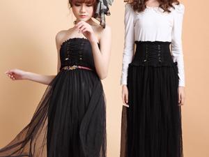黑色长裙怎么搭配衣服才好看 美女们快点看过来