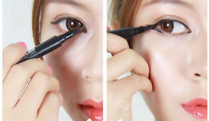 内双怎么画眼线,内双眼线,画内双眼线,眼线