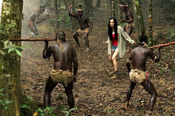 非洲食人族抓女人