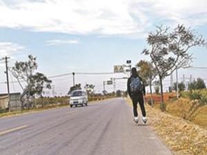 两名山东大学生轮滑历时5天来京 独特出行方式深受好评