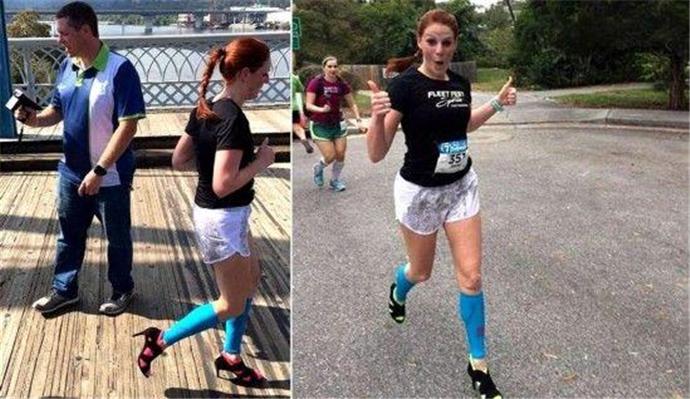 穿高跟鞋跑完马拉松
