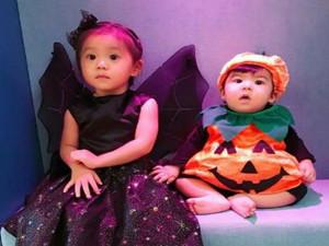 贾静雯为女儿过万圣节 Bo妞的衣服看着好眼