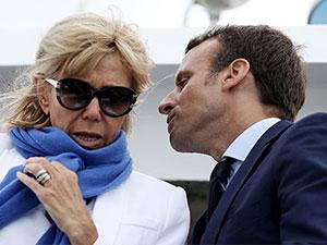 马克隆妻子年轻照片 法国总统娶大自己24岁老师成传奇