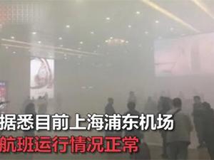 浦东机场浓烟弥漫 原是电瓶车充电自燃令人虚惊一场